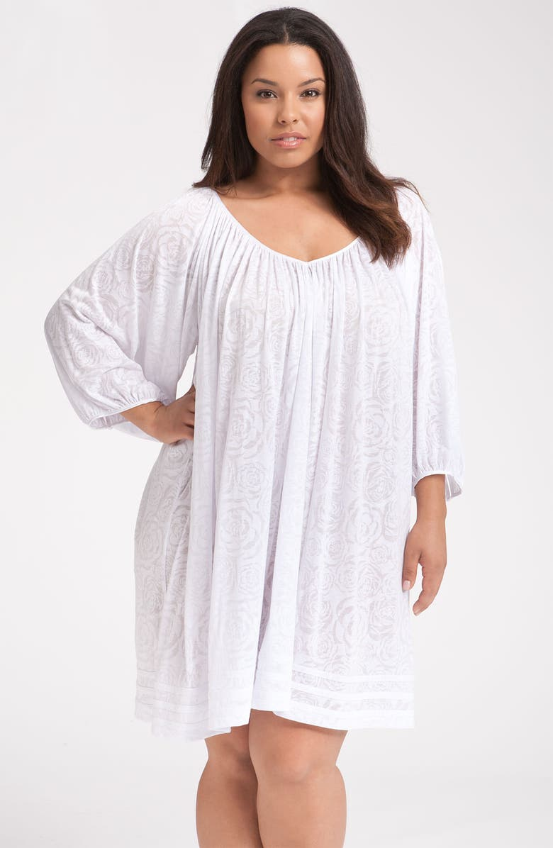 MIDNIGHT BY CAROLE HOCHMAN 'First Light' Nightgown, Main, color, WHITE