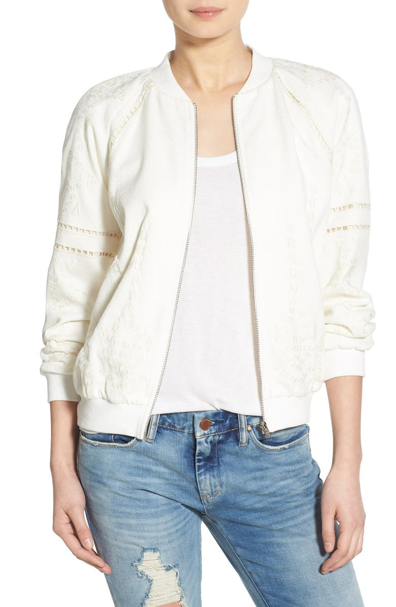 J.O.A. Embroidered Bomber Jacket, Main, color, 900