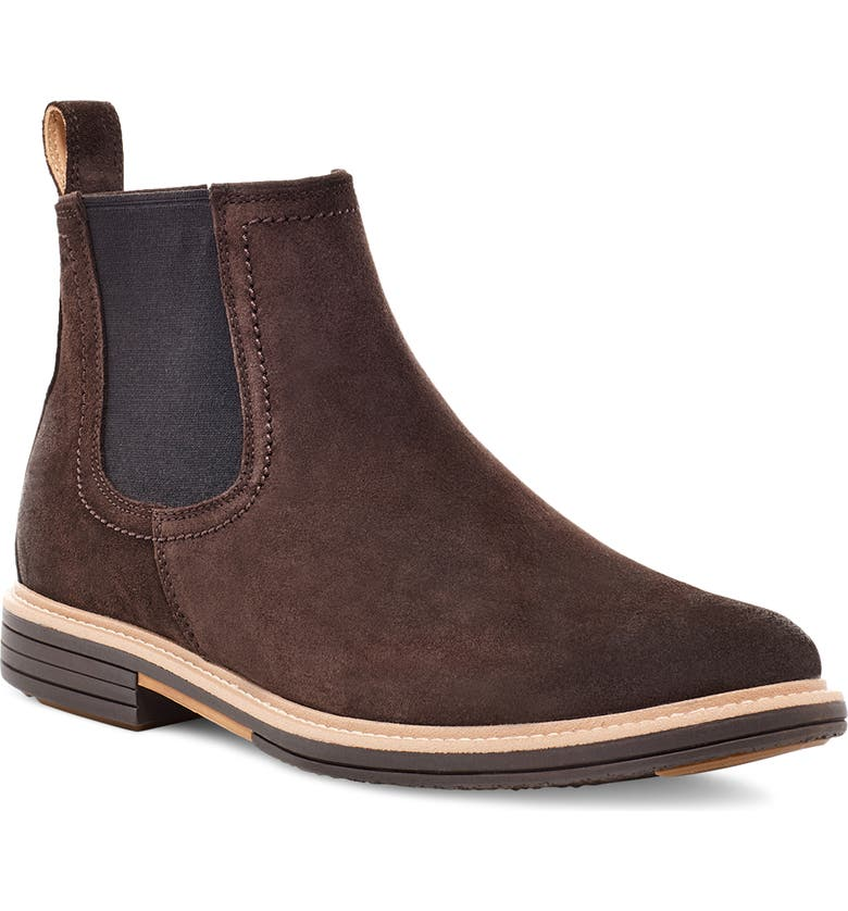 UGG<SUP>®</SUP> Baldvin Chelsea Boot, Main, color, STOUT SUEDE