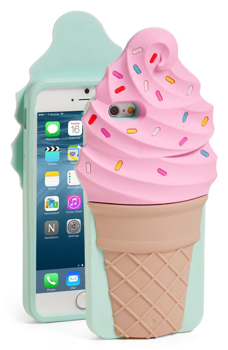 KATE SPADE NEW YORK 'ice cream' iPhone 6 & 6s case, Main, color, PINK MULTI