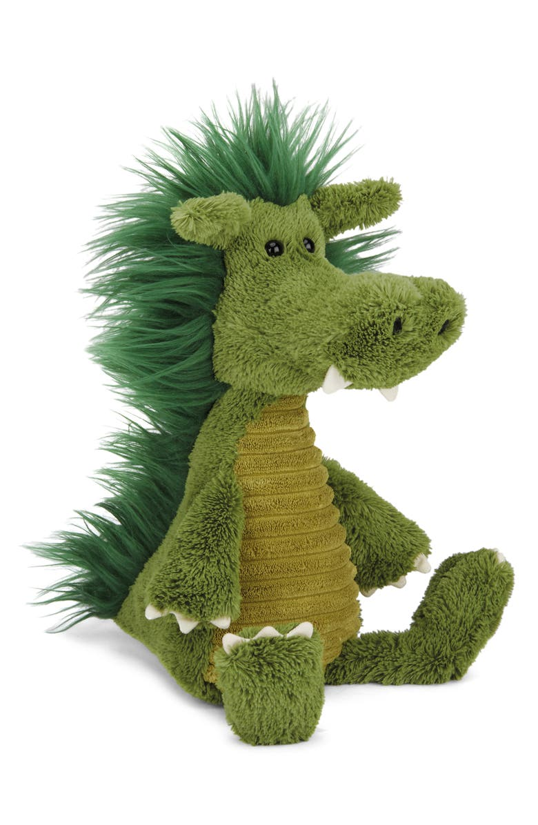 JELLYCAT Dudley Dragon Stuffed Animal, Main, color, GREEN
