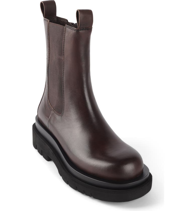 JEFFREY CAMPBELL Tanked Chelsea Boot, Main, color, BROWN