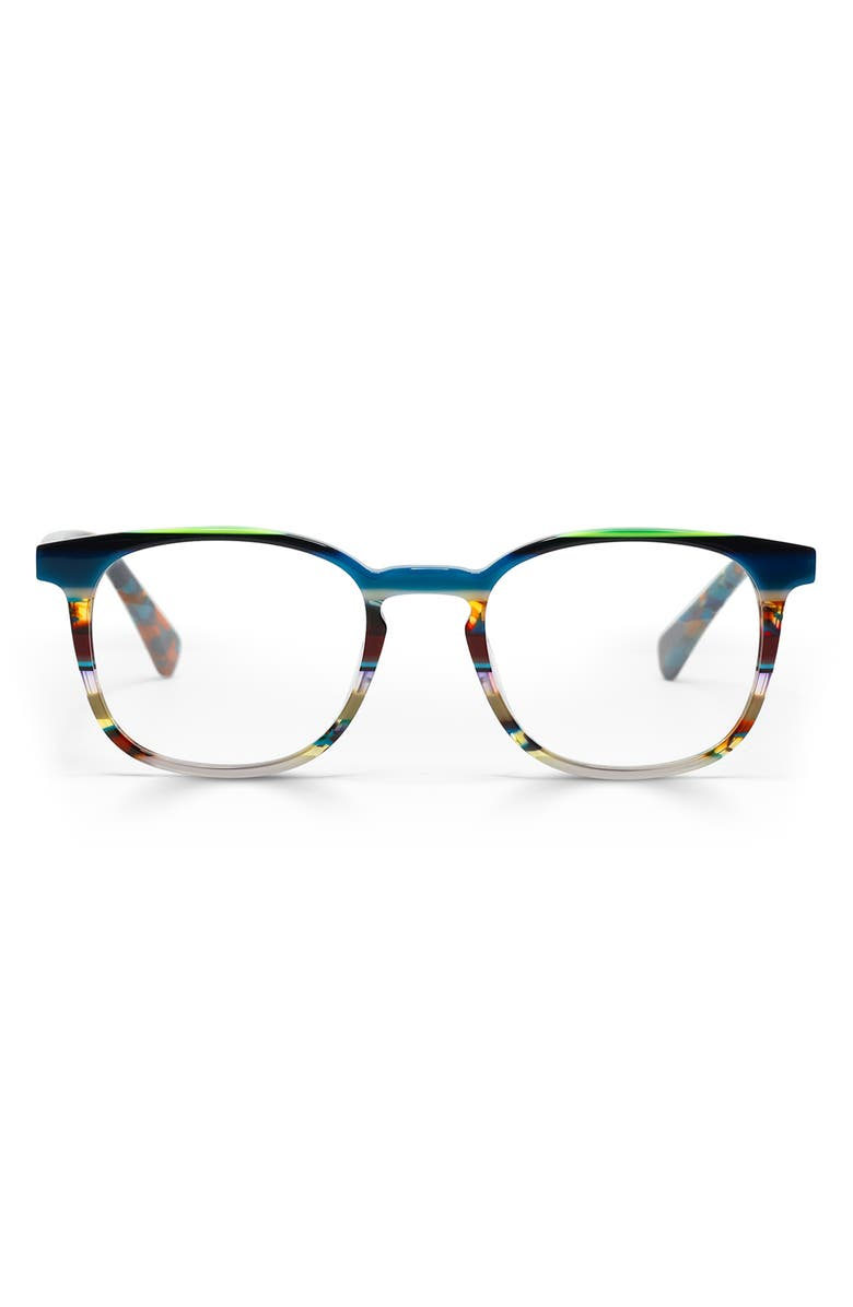 EYEBOBS Boardroom 50mm Reading Glasses, Main, color, TEAL MULTI/ CLEAR
