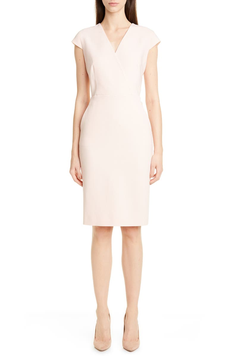 MAX MARA Bill Stretch Wool Sheath Dress, Main, color, 664