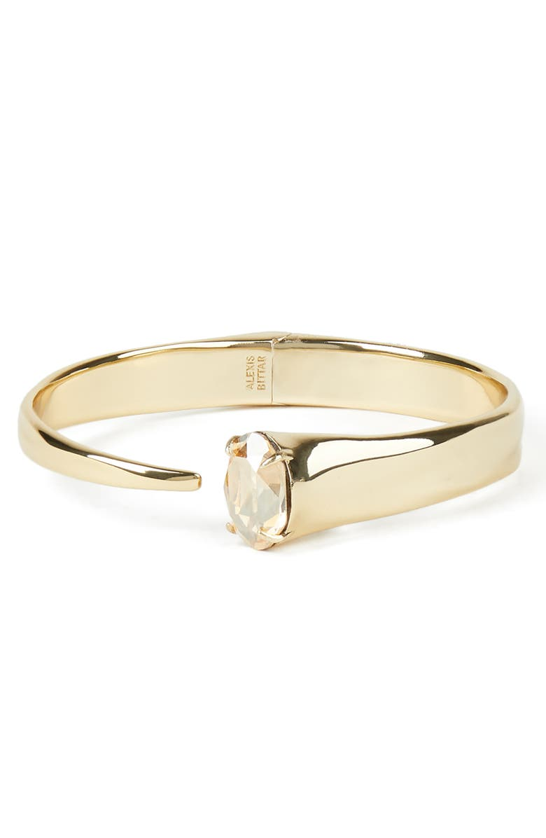 ALEXIS BITTAR Asteria Nova Crystal Capped Hinge Bangle, Main, color, 710