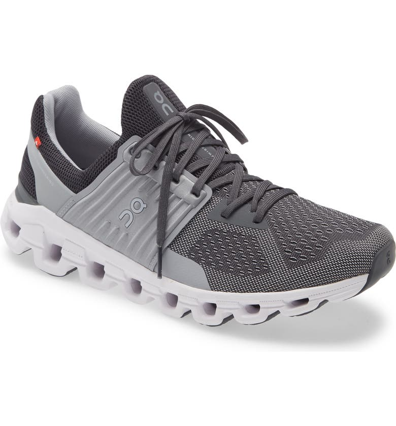 ON Cloudswift Running Shoe, Main, color, SLATE/ ROCK