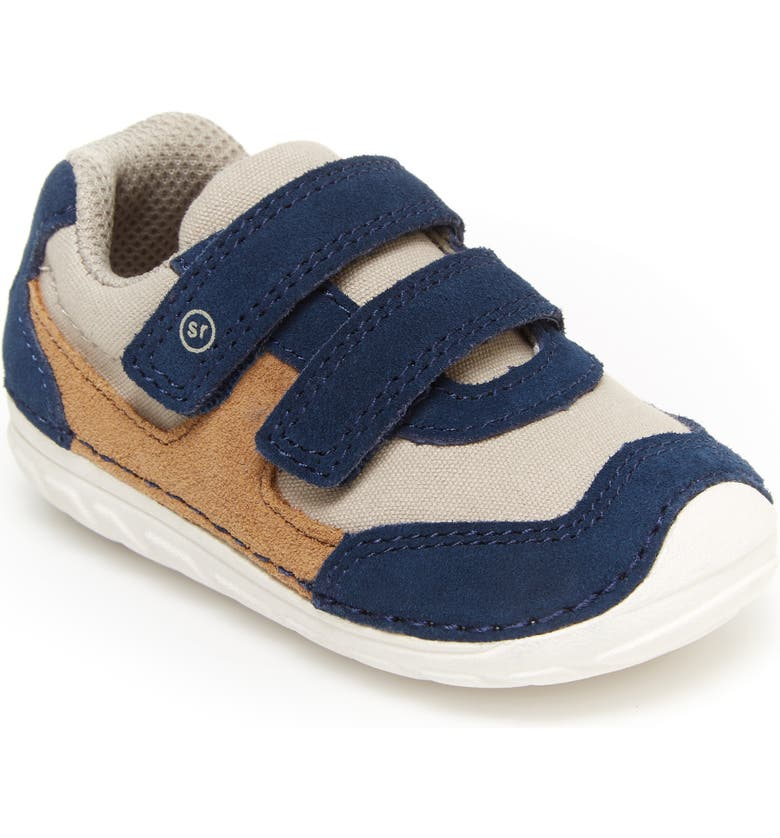 STRIDE RITE Soft Motion<sup>™</sup> Mason Sneaker, Main, color, NAVY/ TRUFFLE