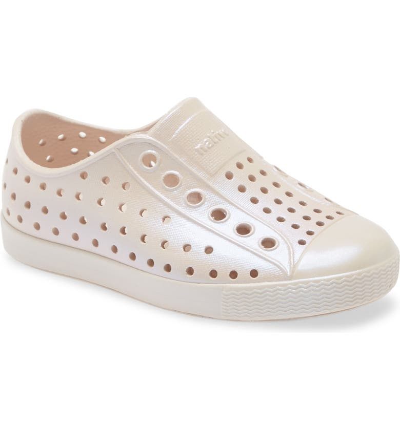 NATIVE SHOES Jefferson Iridescent Slip-On Sneaker, Main, color, PINK/ PINK/ SHINE