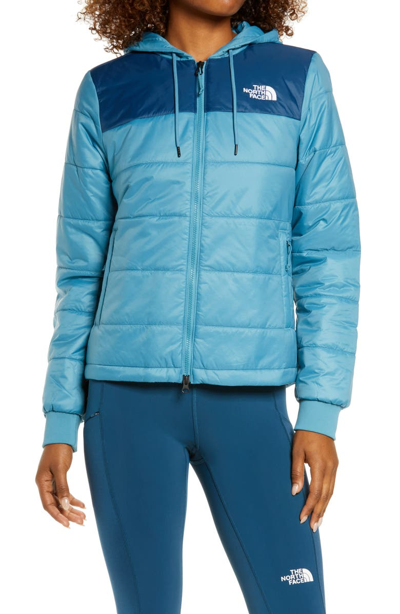 THE NORTH FACE Pardee Water Repellent Heatseeker<sup>™</sup> Insulated Jacket, Main, color, STORM BLUE