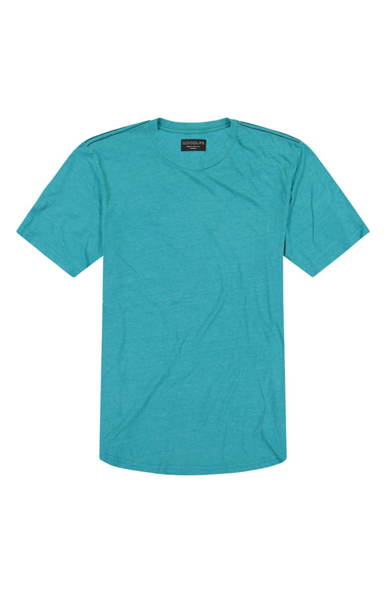 GOODLIFE Triblend Scallop Crewneck T-Shirt, Main, color, ENAMEL BLUE