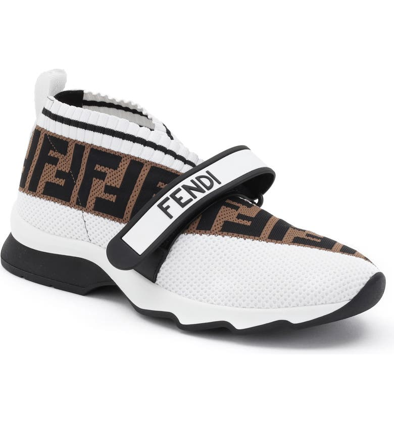 FENDI Rockoko Knit Sneaker, Main, color, WHITE MULTI