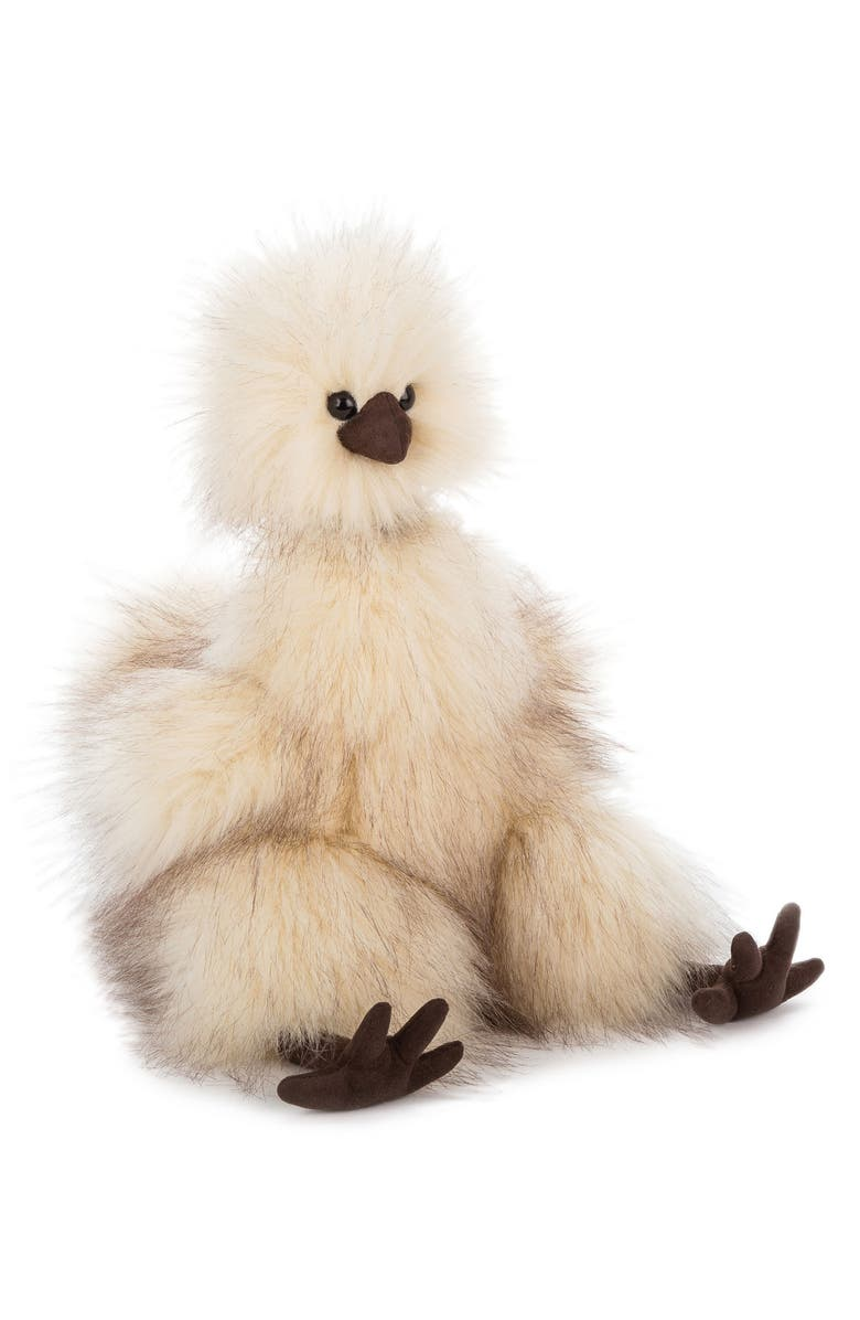 JELLYCAT Silkie Chicken Stuffed Toy, Main, color, CREAM