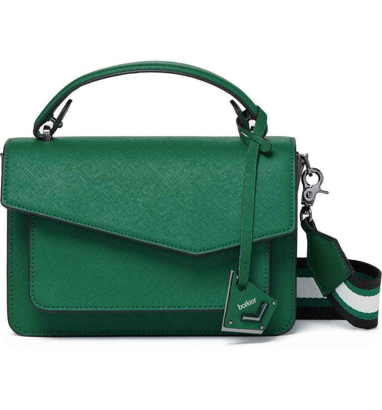 BOTKIER Cobble Hill Colorblock Leather Crossbody Bag, Main, color, IVY