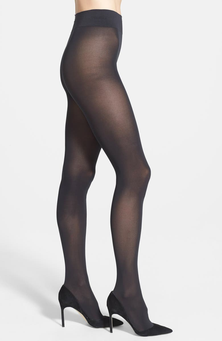 WOLFORD Pure 50 Tights, Main, color, BLACK