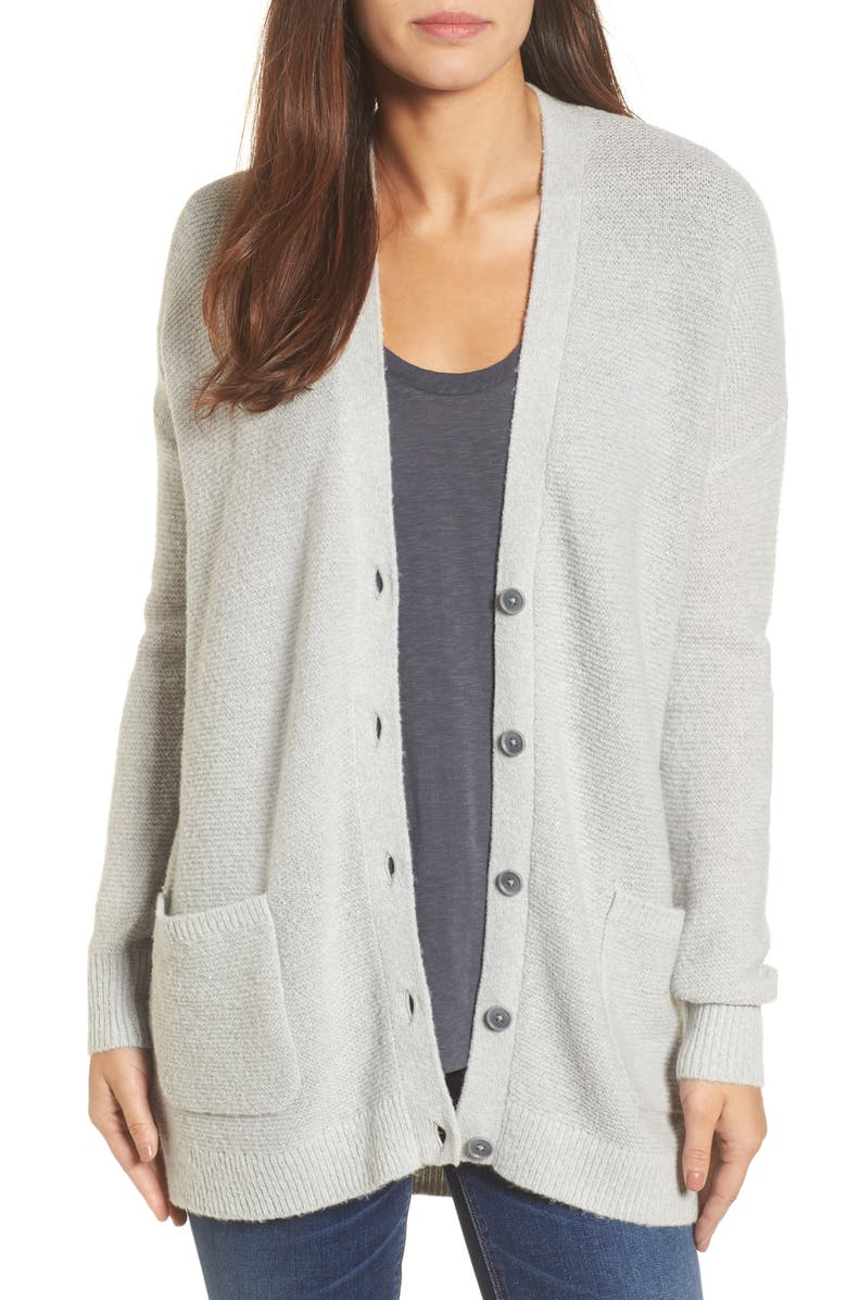 CASLON<SUP>®</SUP> Relaxed Boyfriend Cardigan, Main, color, 050