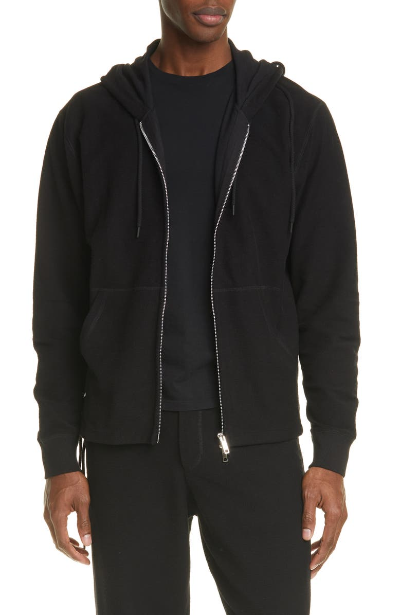CRAIG GREEN Laced Zip Front Hoodie, Main, color, 001