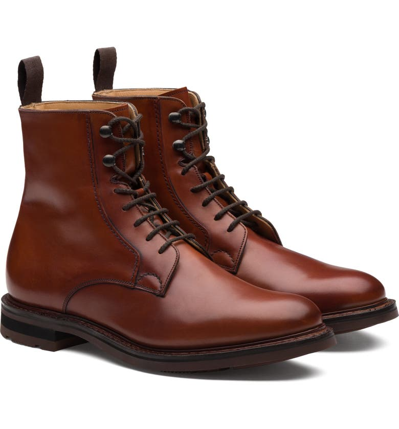 CHURCH'S Wootton Plain Toe Boot, Main, color, BRANDY