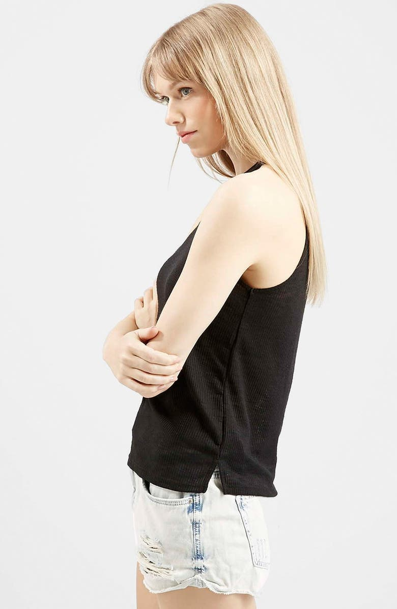 TOPSHOP '70s High Neck Tank, Main, color, 001