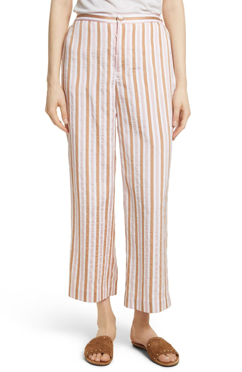 FRAME Stripe Relaxed Leg Crop Pants, Main, color, 650