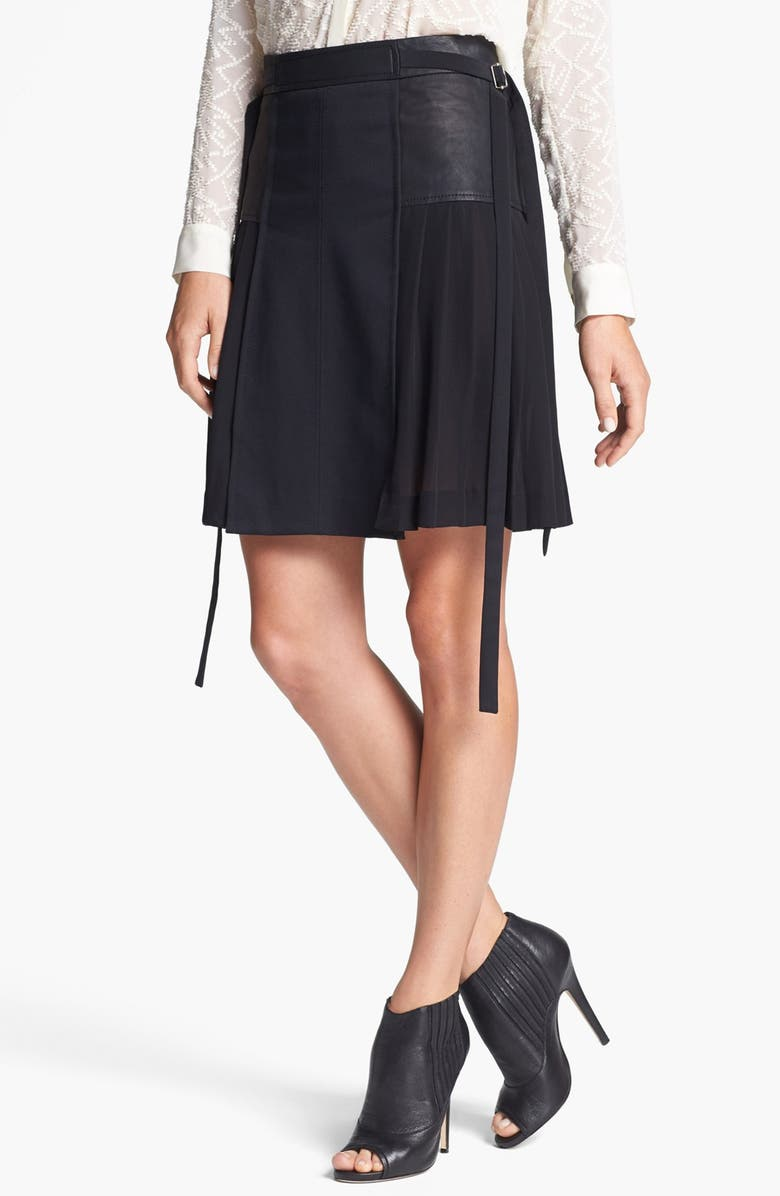 REBECCA TAYLOR Pleated Skirt, Main, color, 001
