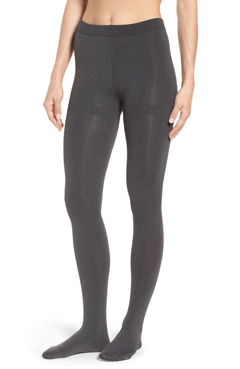 NORDSTROM Fleece Lined Tights, Main, color, CHARCOAL