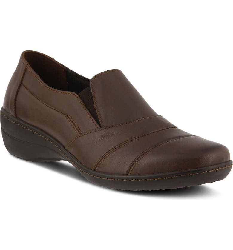 SPRING STEP Kitara Wedge, Main, color, BROWN LEATHER