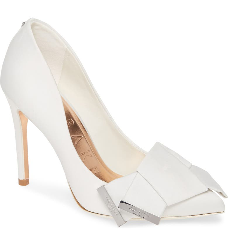 TED BAKER LONDON Iinesi Pump, Main, color, IVORY SATIN