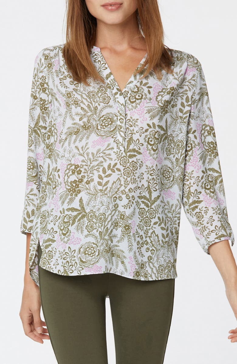 CURVES 360 BY NYDJ Perfect Blouse, Main, color, MEADOWLAND