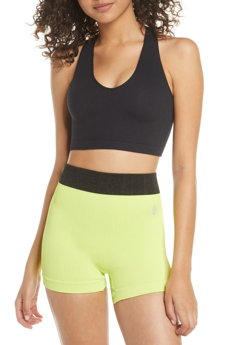 FREE PEOPLE FP MOVEMENT Free Throw Crop Tank, Main, color, BLACK