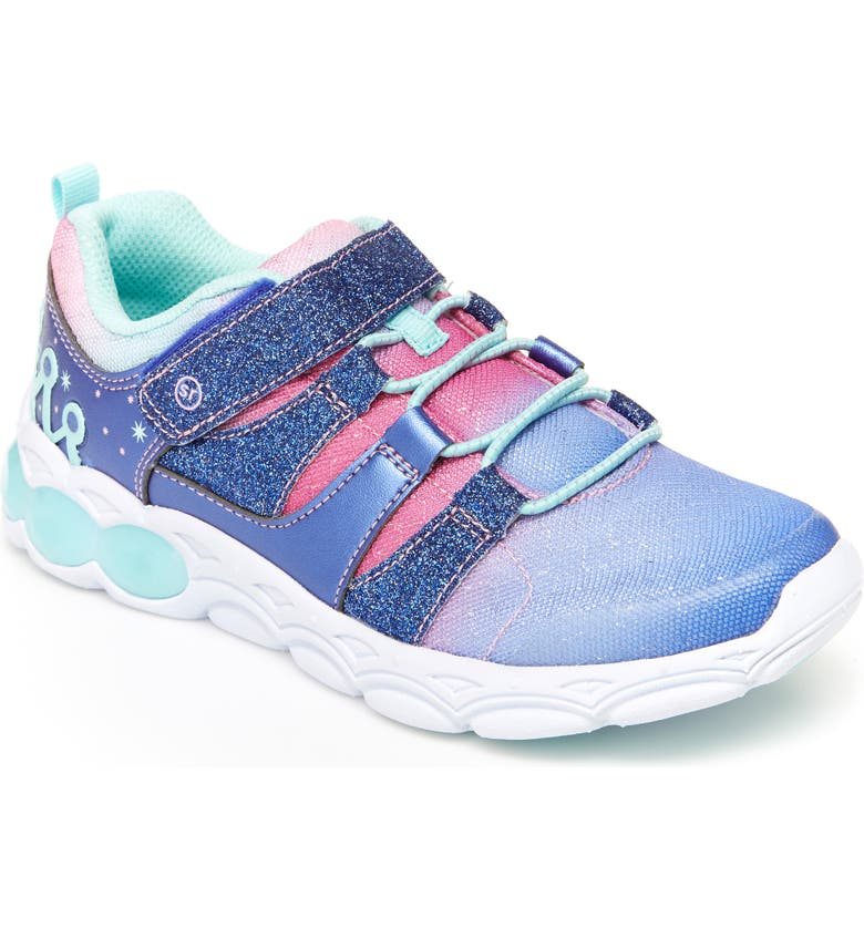 STRIDE RITE Katie Glitter Light-Up Sneaker, Main, color, 444