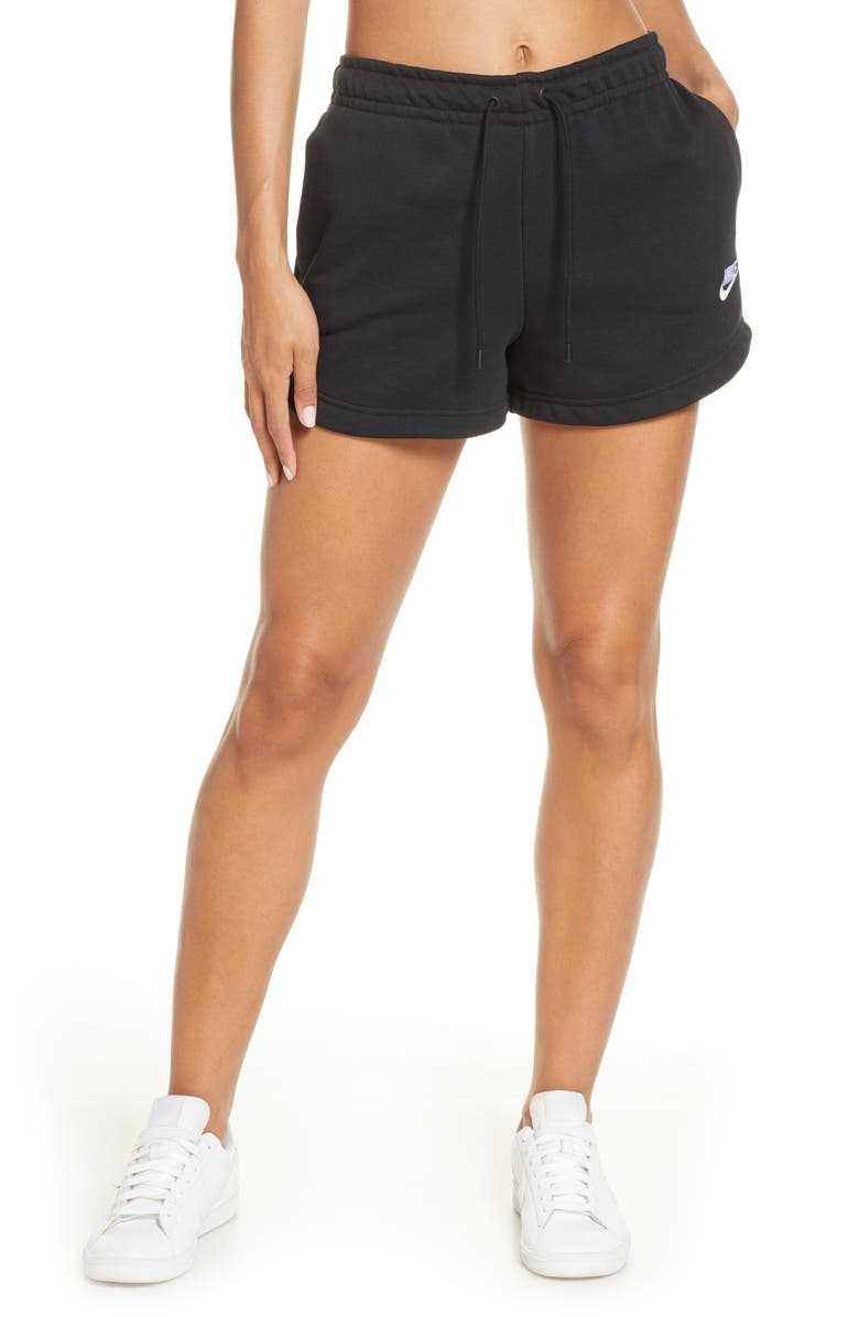 NIKE Essential Shorts, Main, color, BLACK/WHITE
