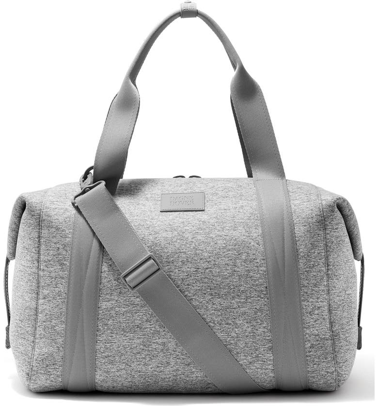 DAGNE DOVER 365 Large Landon Neoprene Carryall Duffle Bag, Main, color, HEATHER GREY