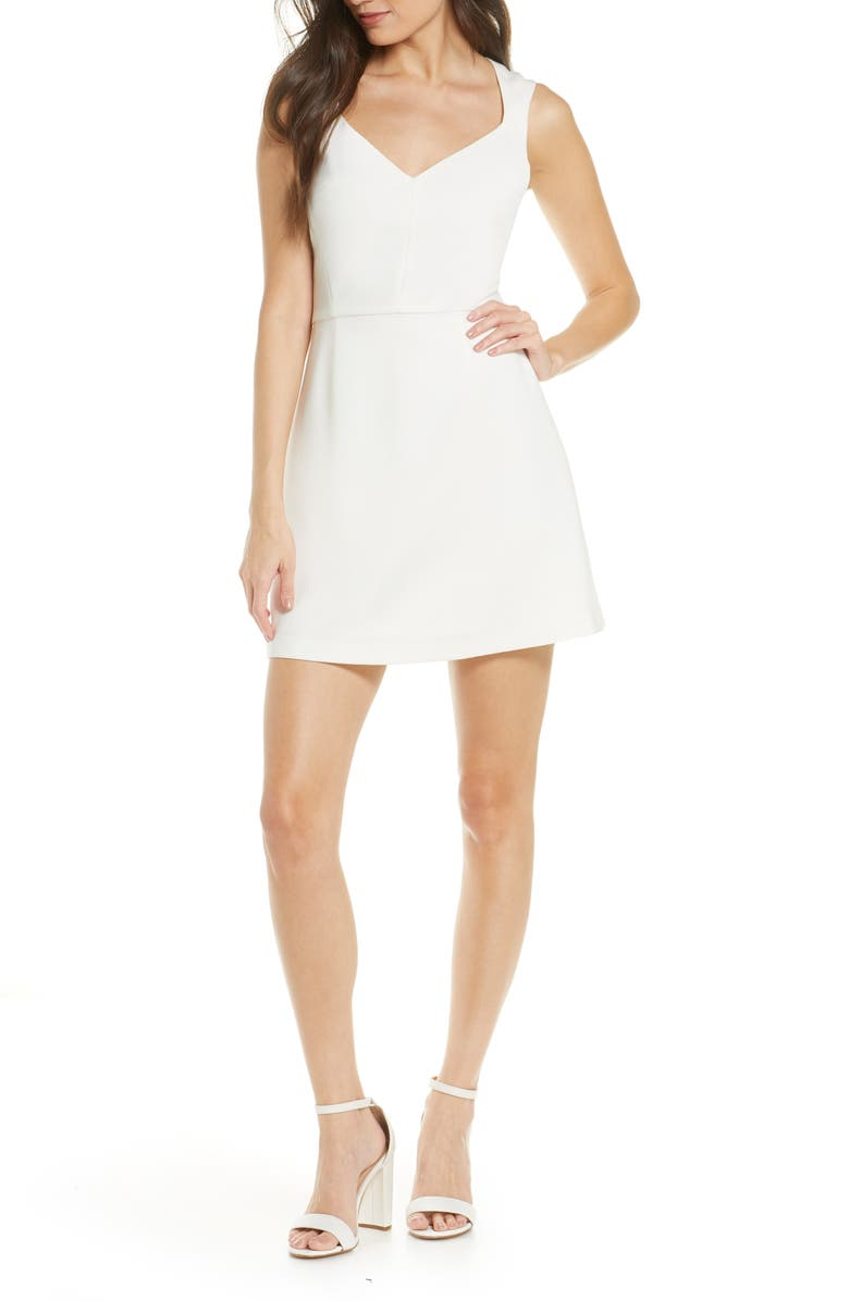 FRENCH CONNECTION Whisper Sleeveless Fit & Flare Dress, Main, color, 125
