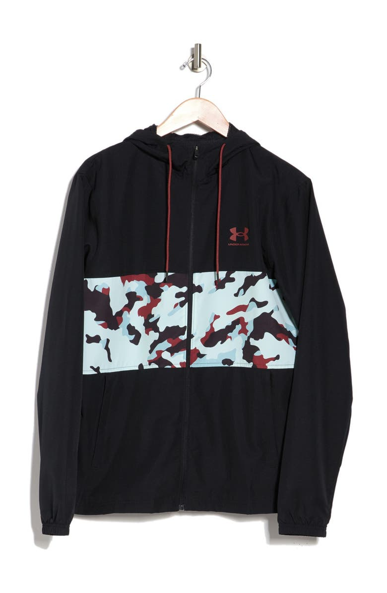 UNDER ARMOUR Sportstyle Wind SI Jacket, Main, color, BLACK