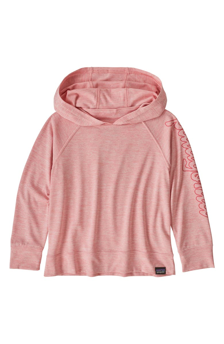 PATAGONIA Kids' Capilene<sup>®</sup> Daily Sun Protection Hoodie, Main, color, ROSEBUD PINK
