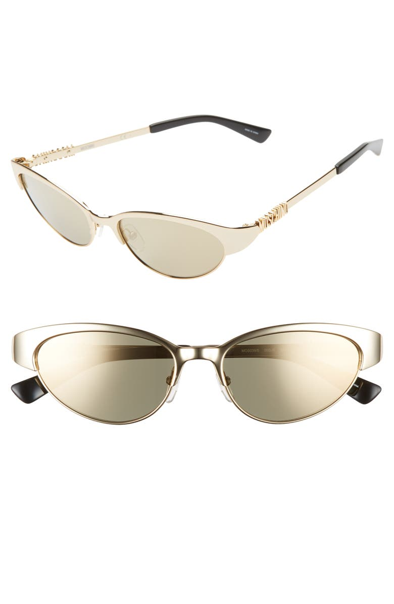 MOSCHINO 54mm Mirrored Cat Eye Sunglasses, Main, color, 710
