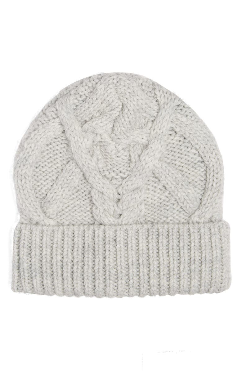 ISABEL MARANT Ryamy Cable Stitch Wool Beanie, Main, color, 020