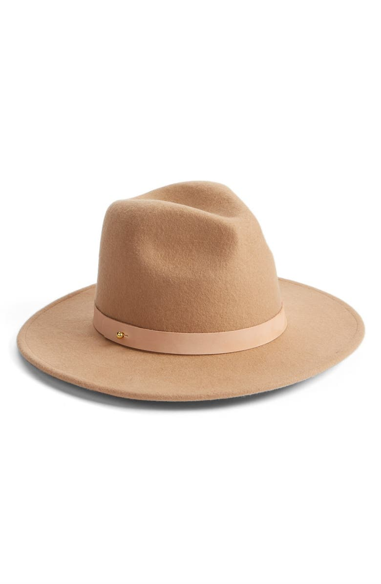 LACK OF COLOR 'The Frey' Wool Fedora, Main, color, NUDE