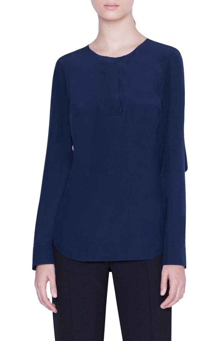 AKRIS PUNTO Silk Blouse, Main, color, 400