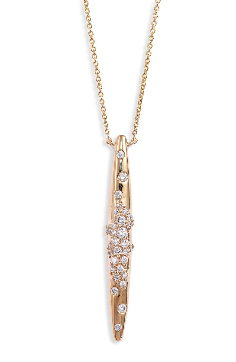 DANA REBECCA DESIGNS Cynthia Rose Spike Diamond Pendant Necklace, Main, color, 710