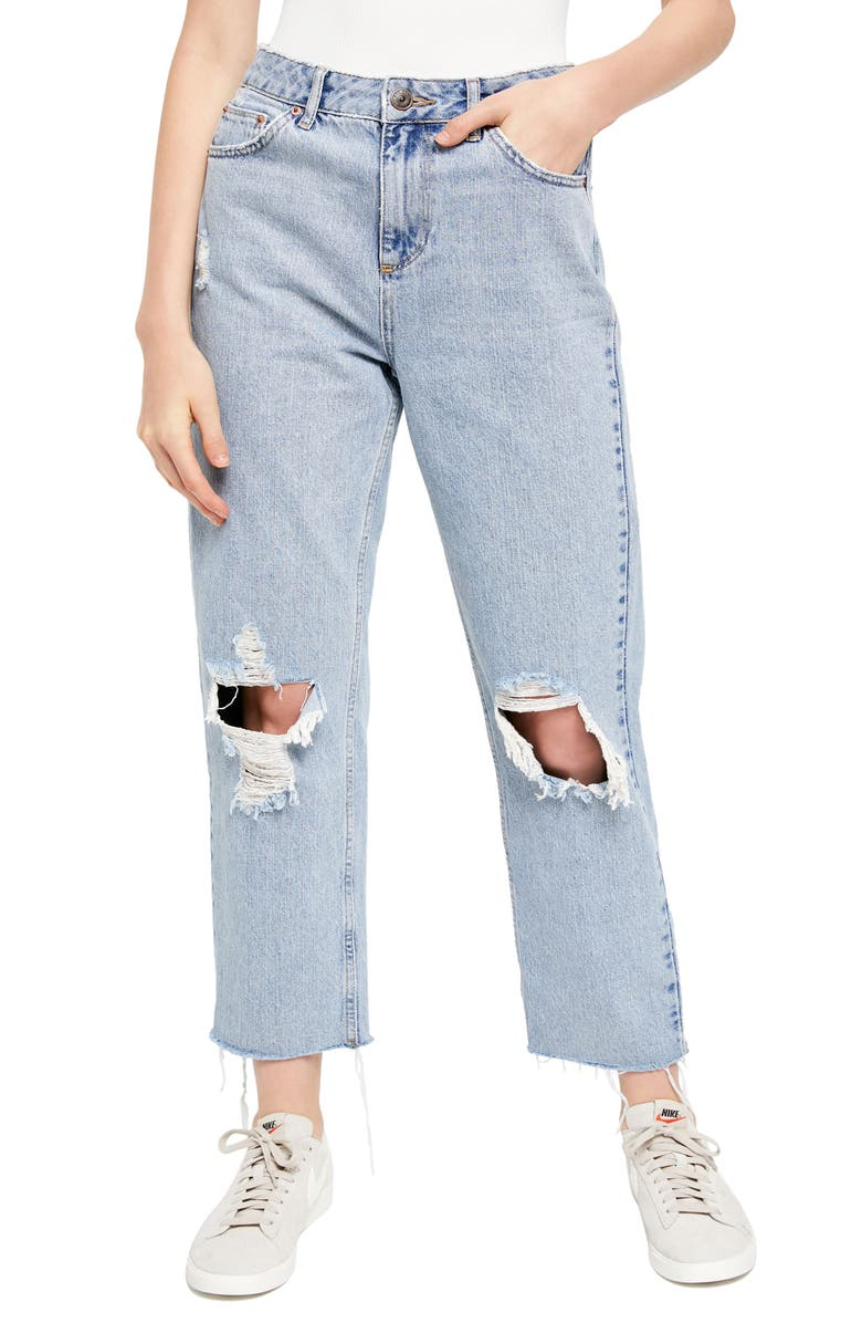 BDG URBAN OUTFITTERS Pax Ripped High Waist Jeans, Main, color, 400