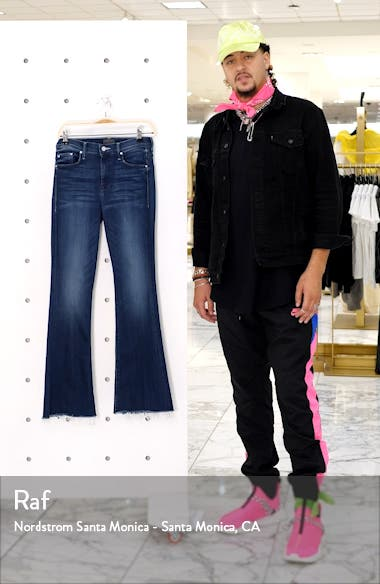The Weekend High Waist Fray Hem Flare Jeans, sales video thumbnail