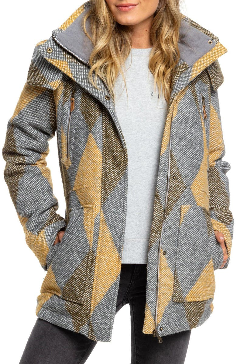 ROXY Dawn Hooded Coat, Main, color, 020