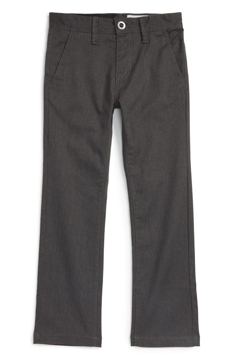 VOLCOM Modern Stretch Chinos, Main, color, CHARCOAL HEATHER