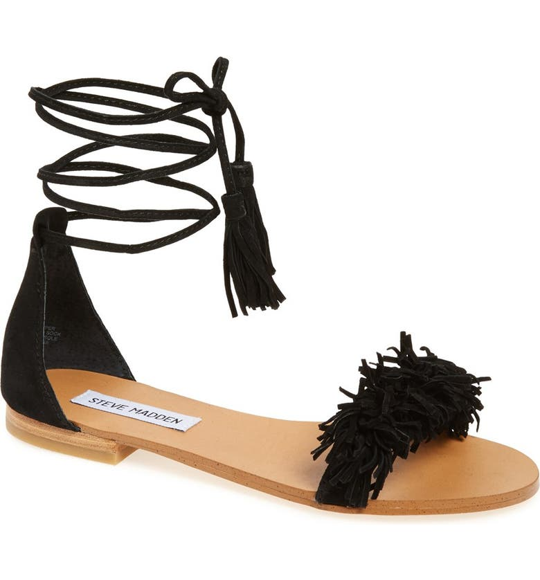 STEVE MADDEN 'Sweetyy' Lace-Up Sandal, Main, color, 006