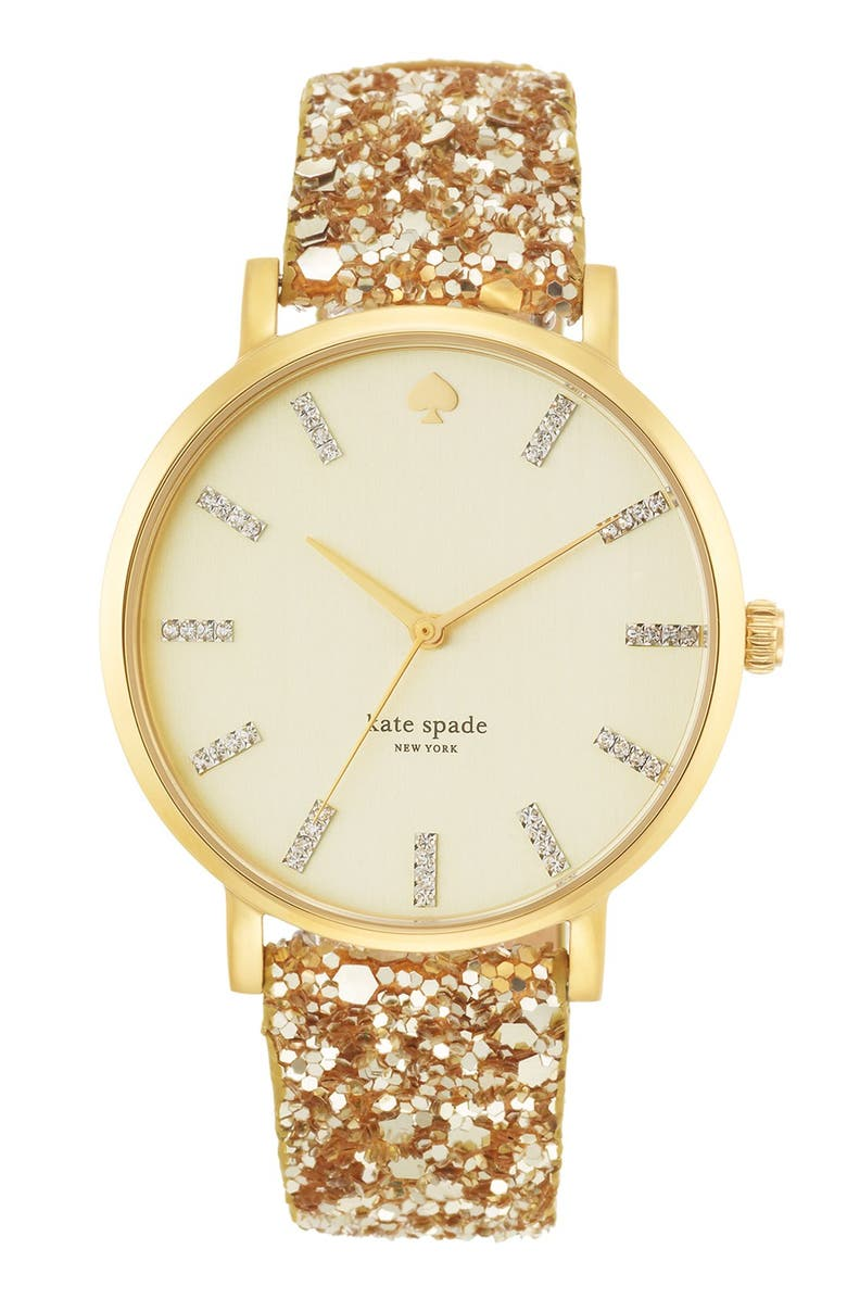 KATE SPADE NEW YORK 'metro grand' boxed watch set, Main, color, 710