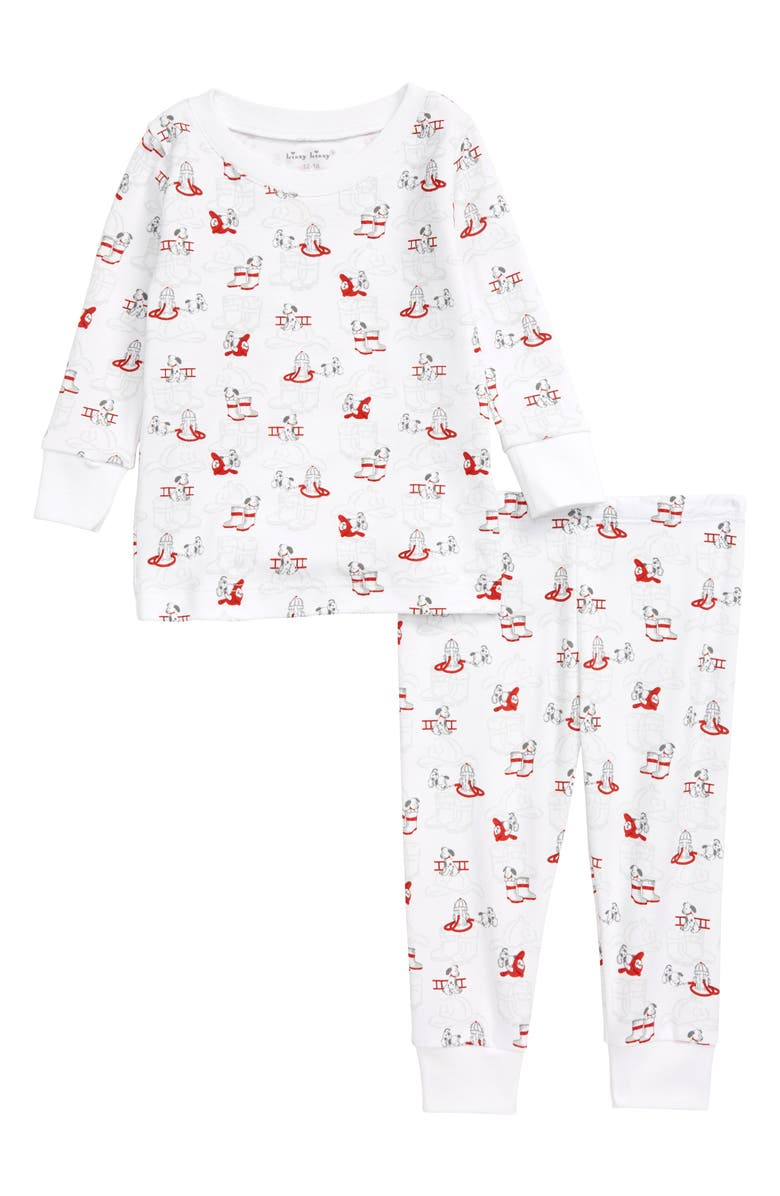 KISSY KISSY Sparky Fitted Two-Piece Fitted Pajamas, Main, color, 020