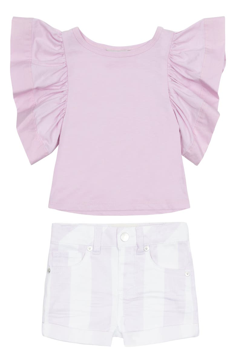 HABITUAL GIRL Habitual Reina Flutter Top & Shorts Set, Main, color, 515
