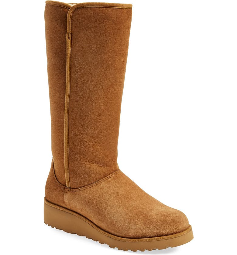 UGG<SUP>®</SUP> Kara - Classic Slim<sup>™</sup> Water Resistant Tall Boot, Main, color, CHESTNUT SUEDE