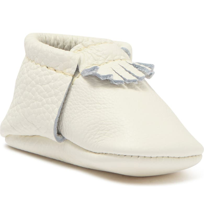 FRESHLY PICKED The First Pair Leather Moccasin, Main, color, BLANC